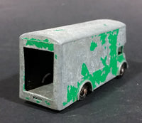1960s Lesney Green Pickford Removal Van No. 46 - Missing Back Door - Paint Heavily Worn