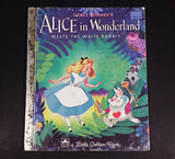 "Walt Disney's Alice in Wonderland Meets The White Rabbit - Little Golden Books - 458-9 - Collectible Children's Book - ""U Edition"" - Treasure Valley Antiques & Collectibles"