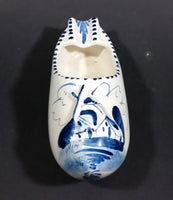 Delft Blue Style Dutch Windmill Decor Ceramic Clog Shoe Ash Tray - Treasure Valley Antiques & Collectibles