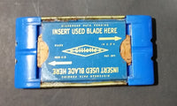 Vintage Gillette Blue Blades Pack w/ Used Blades Underneath - Treasure Valley Antiques & Collectibles