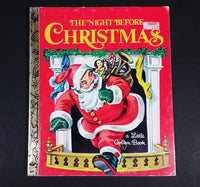 "The Night Before Christmas - Little Golden Books - 450 - Collectible Children's Book - ""D Edition"" - Treasure Valley Antiques & Collectibles"