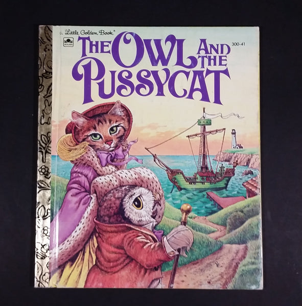 "The Owl And The Pussycat - Little Golden Books - 300-41 - Collectible Children's Book - ""B Edition"" - Treasure Valley Antiques & Collectibles"