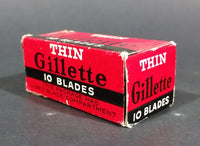 Antique Gillette Thin Disposable Blades w/ Used Blade Storage Compartment - Treasure Valley Antiques & Collectibles