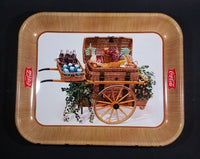 1958 Serve Coca-Cola Coke Soda Pop Picnic Basket Food Cart Wagon Beverage Serving Tray