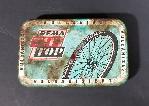 Vintage REMA Tip Top Vulkanisiert Rubber Patch Repair Tin - Rusted - Treasure Valley Antiques & Collectibles