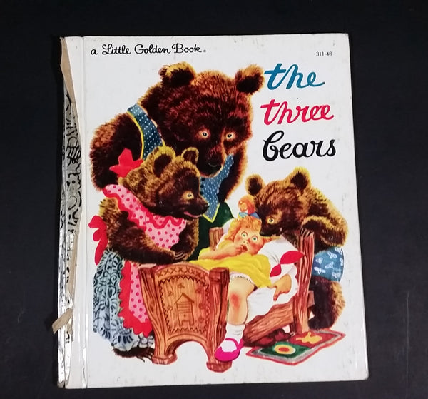 "The Three Bears - Little Golden Books - 311-48 - Collectible Children's Book ""r"" edition - Treasure Valley Antiques & Collectibles"
