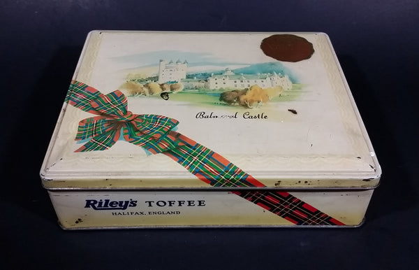 Vintage Mid-Century Riley's Variety Toffee Balmoral Castle Scotland Tin - Halifax, England - Treasure Valley Antiques & Collectibles