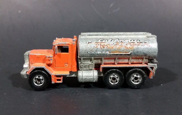 1981 Hot Wheels Peterbilt Tanker Truck California Construction Company Die Cast Toy Car