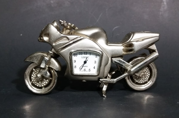 Retro Promotional Logic Quartz Motorcycle Streetbike Desk Clock Needs Battery - Treasure Valley Antiques & Collectibles