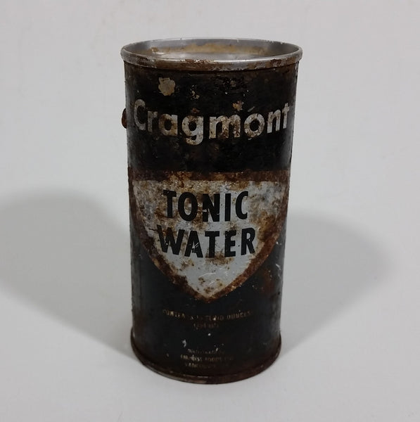 Vintage 10 Ounce Cragmont Tonic Water Puncture Top Soda Can - Empress Foods Vancouver - Treasure Valley Antiques & Collectibles