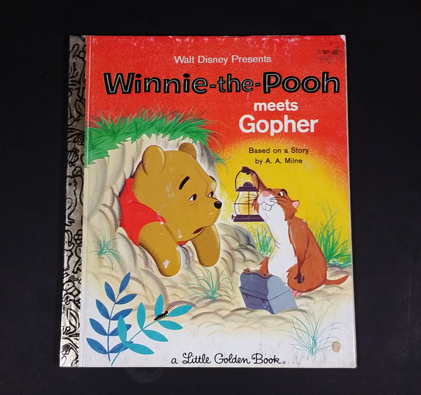 Walt Disney Winnie-the-Pooh Meets Gopher - Little Golden Books - 101-32 - Collectible Children's Book - Treasure Valley Antiques & Collectibles