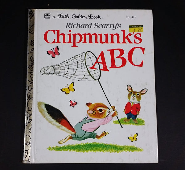 "Chipmunk's ABC - Little Golden Books - 202-44 - Collectible Children's Book - ""J Edition"" - Treasure Valley Antiques & Collectibles"