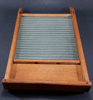 Antique Wooden & Glass Washboard - Treasure Valley Antiques & Collectibles