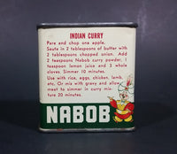 1950s Nabob Foods Vancouver Pure Curry Powder Spice Tin - Still has product inside
