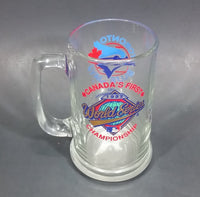 "1992 Toronto Blue Jays Canada's First World Series Champions Clear Glass 5 1/2"" Mug - Treasure Valley Antiques & Collectibles"