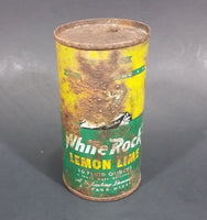1960s White Rock Beverages Lemon Lime 10 fl oz Puncture Flat Top Soda Can - Mira Can
