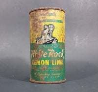 1960s White Rock Beverages Lemon Lime 10 fl oz Puncture Flat Top Soda Can - Mira Can - Treasure Valley Antiques & Collectibles