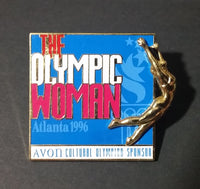 "1996 Atlanta Olympic Games ""The Olympic Woman"" ""Avon Cultural Olympic Sponsor"" Pin - Treasure Valley Antiques & Collectibles"
