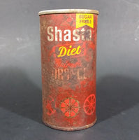 Vintage Rare Shasta Diet Valencia Orange Soda Pop Pull Tab Top 10oz Can Canada - Treasure Valley Antiques & Collectibles