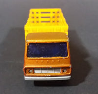 Vintage 1976 Lesney Matchbox Superfast No. 71 Dodge Cattle Truck Brown Die Cast Toy Car Vehicle - Made in England