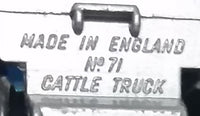 1976 Matchbox Superfast Lesney Products Dodge Cattle Truck No. 71 - Made in England - Treasure Valley Antiques & Collectibles
