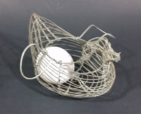 Antique 1940s Hen Shaped Wire Egg Basket - Treasure Valley Antiques & Collectibles