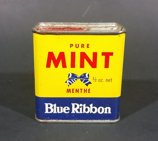 Vintage Blue Ribbon Pure Mint 1/2 oz Tin - Still Full - Vancouver Winnipeg Toronto - Brooke Bond Canada Limited - Treasure Valley Antiques & Collectibles