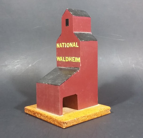 """National Waldheim"" Saskatchewan CN Railway Grain Storage Elevator Wood Folk Art Model - Treasure Valley Antiques & Collectibles"