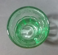 "Cute Miniature Collectible Coca-Cola Coke Soda Beverage  3 1/8"" Green Glass Cup - Treasure Valley Antiques & Collectibles"