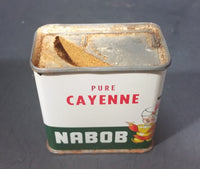 1950s Nabob Foods Vancouver Pure Cayenne Pepper Powder Spice Tin - Still has product inside - Treasure Valley Antiques & Collectibles