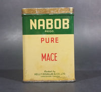 Vintage Nabob Foods Vancouver Pure Mace Powder Spice Tin - Still has product inside - Treasure Valley Antiques & Collectibles