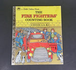 "The Firefighters' Counting Book - Little Golden Books - 203-45 - Collectible Children's Book - ""B Edition"" - Treasure Valley Antiques & Collectibles"