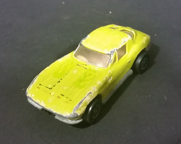 1979 Hot Wheels Yellow Lime Chevrolet Corvette Stingray Diecast Toy Car - Treasure Valley Antiques & Collectibles