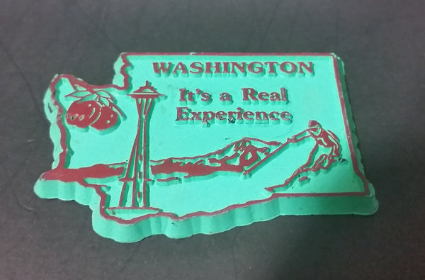 "Washington ""It's a Real Experience"" State Shaped Fridge Magnet - ""Magnetic Collectibles Ltd."" - Treasure Valley Antiques & Collectibles"