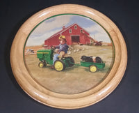 "John Deere ""Donald Zolan"" Little Farmhands Wood Framed Picture - Treasure Valley Antiques & Collectibles"
