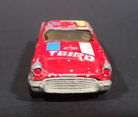 1985 Hot Wheels '57 T-Bird 1957 Ford Thunder Bird Red w/ Yellow & Blue Stripes Die Cast Toy Car Vehicle - Treasure Valley Antiques & Collectibles