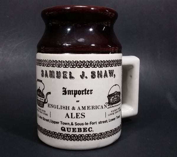 Vintage Samuel J. Shaw Importer English & American Ales Mug Stein 19th Century Reproduction - Treasure Valley Antiques & Collectibles