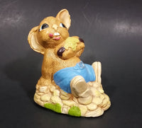 "1970s Pepiware ""Tucker"" Bunny Rabbit Eating a Snack Figurine - England - Treasure Valley Antiques & Collectibles"