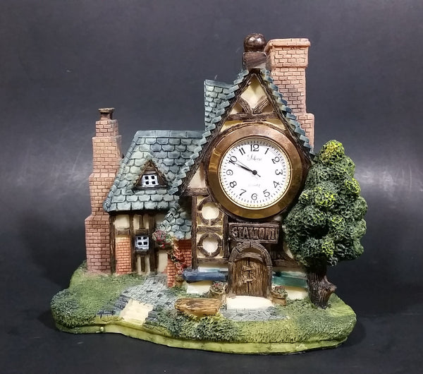 Solina Quartz Decorative Cottage Station House Mantle Desk Clock - Thailand Movement - Treasure Valley Antiques & Collectibles