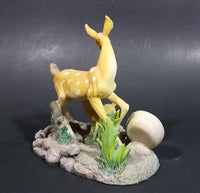 Vintage Mira Quartz Decorative Mother Deer and Baby Fawn Mantle Desk Clock - Treasure Valley Antiques & Collectibles