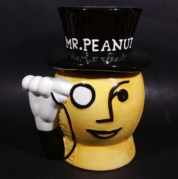 Collectible Mr. Peanut Cocktail Salted Peanuts Ceramic Cookie Jar - Treasure Valley Antiques & Collectibles