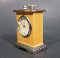 Sina Quartz Miniature Wood and Metal Case Miniature Carriage Clock - Treasure Valley Antiques & Collectibles