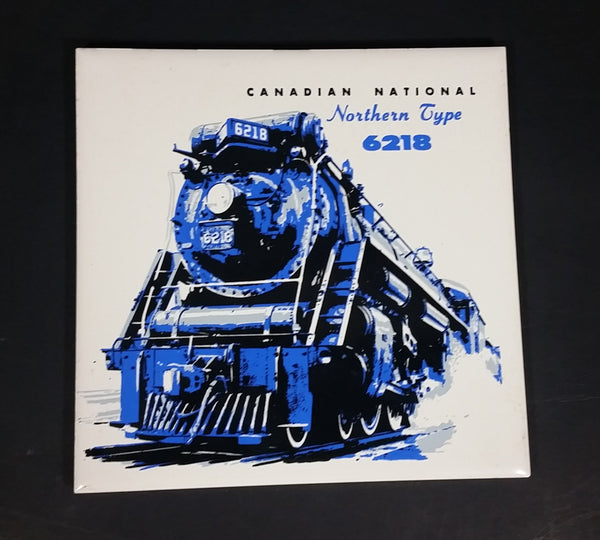 "Canadian National Railway ""Northern Type"" No. 6218 Train Locomotive Ceramic Tile - Treasure Valley Antiques & Collectibles"