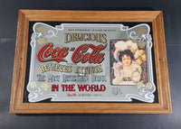 "Vintage Coca-Cola Coke Wood Framed Mirror Advertising Sign 5¢ Cents 20"" X 14"" - Treasure Valley Antiques & Collectibles"
