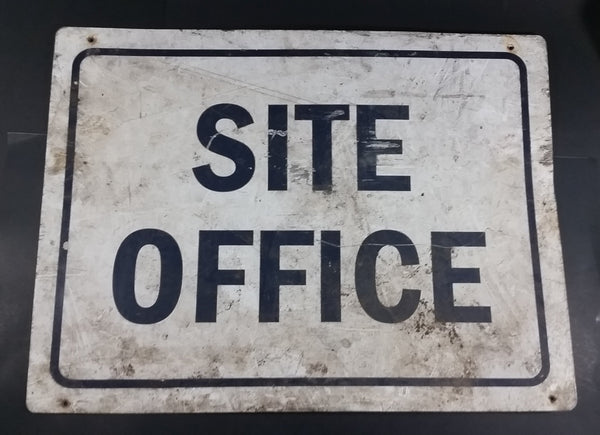 "Site Office Construction Yard Metal Sign - 18"" x 24"" - Treasure Valley Antiques & Collectibles"