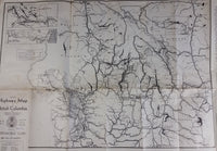 1930s C.A.A. A.A.A. Automobile Clubs Highway Map of British Columbia, Northern Washington, Idaho, Montana - Treasure Valley Antiques & Collectibles