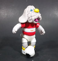 1980s Ganz Moveable Wrinkle Grey Dog Soccer Player Character PVC Figurine - Treasure Valley Antiques & Collectibles