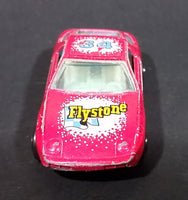 1980s Yatming Hot Pink Porsche 928 Flystone #34 Super Runner Die Cast Toy Car No. 1034 - Treasure Valley Antiques & Collectibles