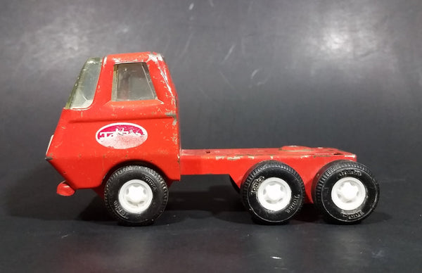 Vintage 1970s Tonka Orange Red 55010 Pressed Steel Semi Tractor Toy Truck - Treasure Valley Antiques & Collectibles