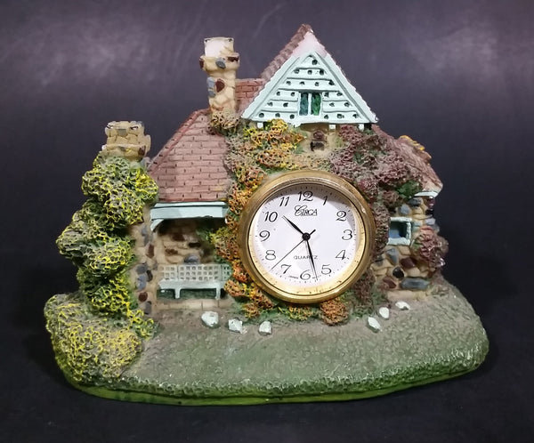 Circa Decorative Cottage House Mantle Desk Clock - Japan Movement - Treasure Valley Antiques & Collectibles